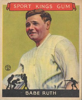 Babe Ruth 1933 Goudey Sport Kings