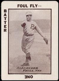 Grover Cleveland Alexander Barker Game Card