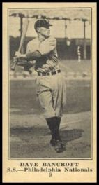 M101-5 Sporting News Dave Bancroft
