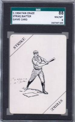 1904 Fan Craze Game Card SGC 88