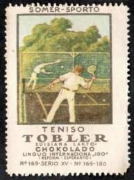 1922 Tobler Summersport Tennis Stamp