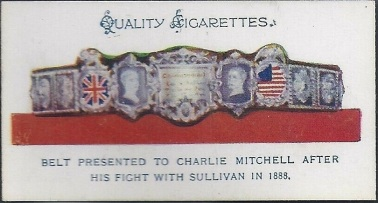 1931 J.A. Pattreioux Sporting Trophies Charlie Mitchell Belt Boxing