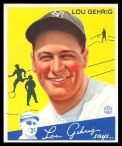 1934 Goudey Lou Gehrig -37
