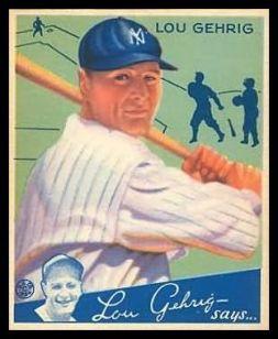 1934 Goudey Lou Gehrig