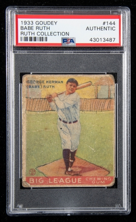 Babe Ruth Owned 1933 Goudey 2