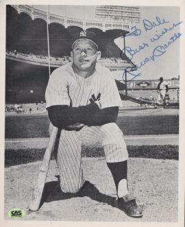 Mickey Mantle Autographed Photo Birmingham Auctioneers