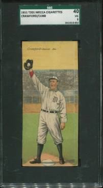 T201 Sam Crawford Ty Cobb SGC 3