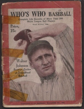 Walter Johnson Who's Who in Baseball 1924 Birmingham Auctioneers