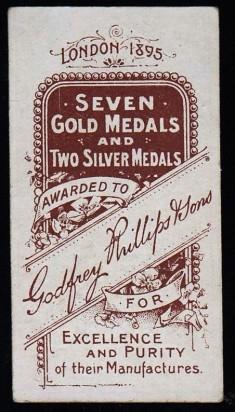 1896 Godfrey Phillips Soccer W.I. Bassett Back