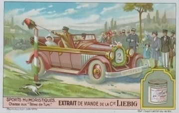 1929 Liebig Humorous Sports Hunt for Turkish Heads Trade Card