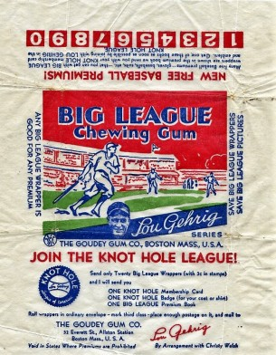 1935 Goudey Knot Hole League Wrapper
