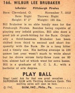 1940 Play Ball Superman Gum Back
