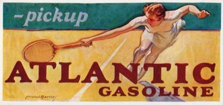 Atlantic Gasoline Tennis Ink Blotter