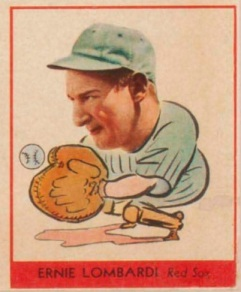 Ernie Lombardi 1938 Goudey Red Sox