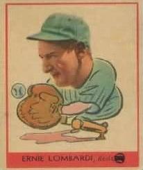 Ernie Lombardi 1938 Goudey Reds Black Baseball