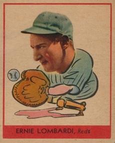 Ernie Lombardi 1938 Goudey Reds No Black Baseball