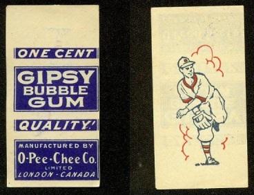 Gipsy Gum OPC O-Pee-Chee Baseball Wrapper