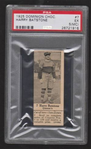 Harry Batstone V31 Dominion Chocolate 1925 PSA 5 MC