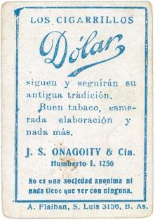 J.S. Onagoity Los Cigarrilos Dolar Back