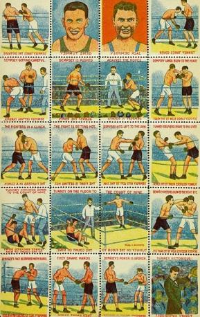 Jack Dempsey Gene Tunney 1927 Transfers Stamps Set