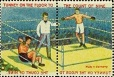 Jack Dempsey Gene Tunney 1927 Transfers Stamps Two in One