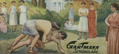 1917 Gartmann Wrestling Card Fighting Games
