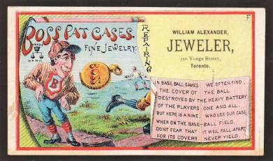 Boss Pat Cases Baseball Trade Card