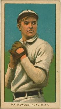 T206 Christy Mathewson White Cap
