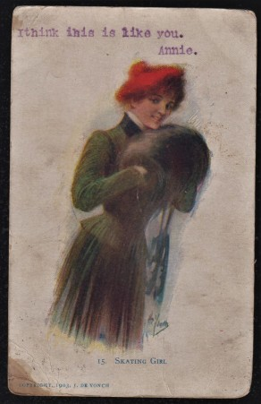 National Art Company - The Skating Girl Postcard