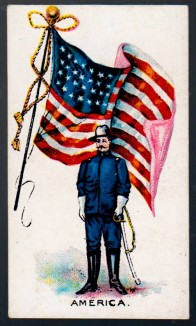 1901 Hill Flags and Flags with Soldiers America