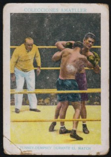Amatller Chocolates Boxing Jack Dempsey Gene Tunney