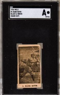 Babe Ruth W511 Strip Card
