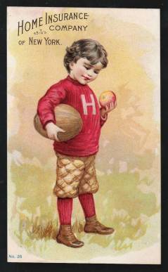 Harvard Football Trade Card