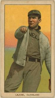 T206 Nap Lajoie Throwing
