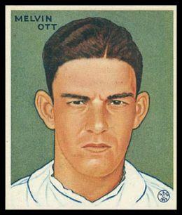 1933 Goudey 127 Mel Ott