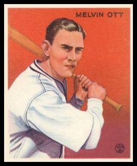 1933 Goudey 207 Mel Ott