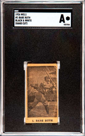 Babe Ruth W511 Strip Card SGC