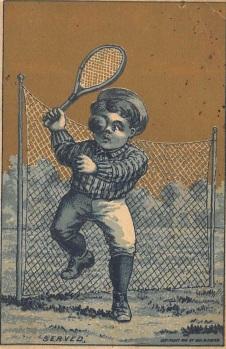 1881 George Hayes Tennis Trade Card 2