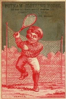 1881 George Hayes Tennis Trade Card