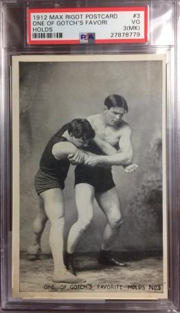 Frank Gotch Max Rigot Wrestling Postcard