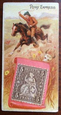 N85 Duke Postage Stamps Pony Express