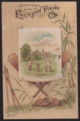 Trade Card No. 211 Cricket Baseball Scene
