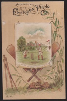 Trade Card No. 211 Cricket Baseball Scene