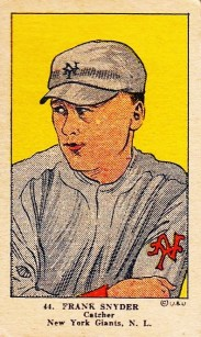 Frank Snyder W515 Strip Card