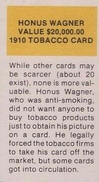 Honus Wagner T206 Reprint Back