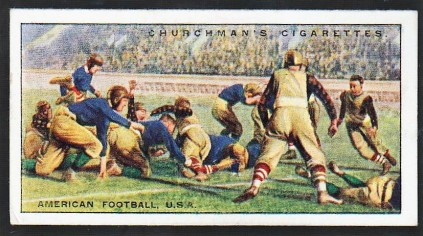 1929 Churchman Sports and Games in Many Lands American Football