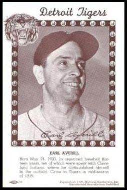 1940 Michigan Sportservice Earl Averill