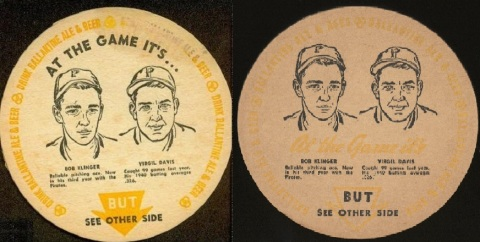 1941 Ballantine Beer Coasters Pirates