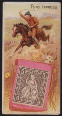 Duke Postage Stamps N85 Pony Express