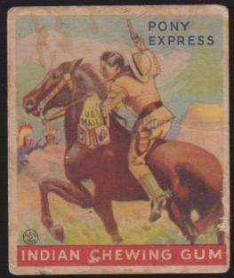 R73 1933 Goudey Indian Gum Pony Express
